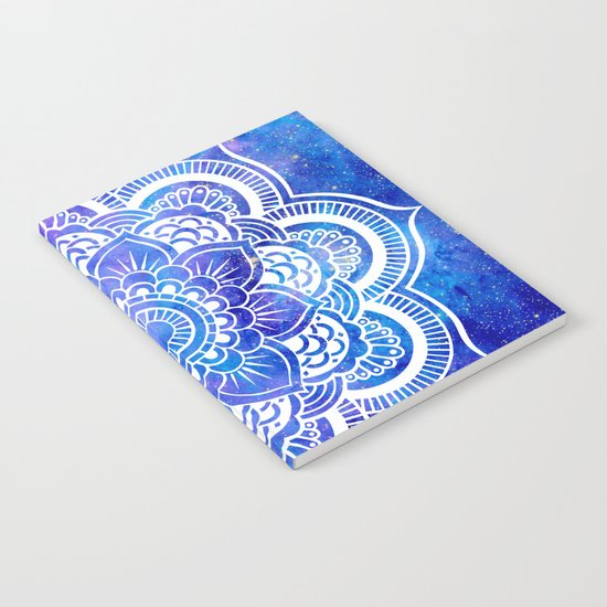 Mandala Blue Lavender Galaxy Notebook