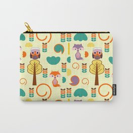 Autumnal foxes and owls Carry-All Pouch