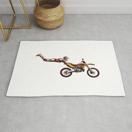Motocross Stunt Jump Rug