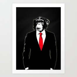 Domesticated Monkey Art Print