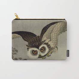 Japanese Owl and Moon Carry-All Pouch