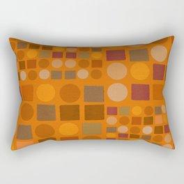 """Warm spots & squares (pattern)"" Rectangular Pillow"