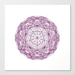 c60 truncated icosahedron Canvas Print
