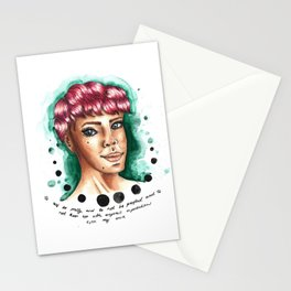 Meredith Graves of Perfect Pussy - Watercolour and Copic with Quote Stationery Cards