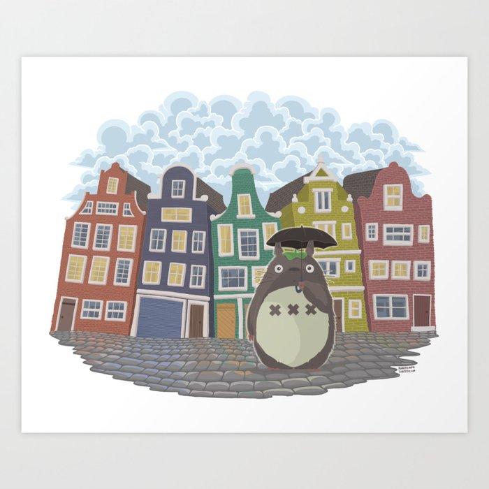 My neighbor Amsterdam Art Print