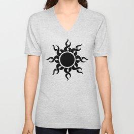 Black Sun Unisex V-Neck