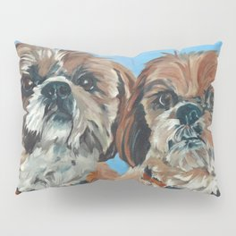 Shih Tzu Buddies Dog Portrait Pillow Sham