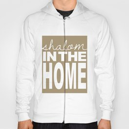 Shalom in the Home, sea foam Hoody