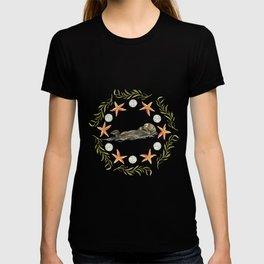 Sea Otter Mandala 1 - Watercolor T-shirt