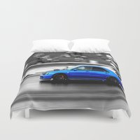 subaru Duvet Covers featuring Subaru Racer by VHS Photography