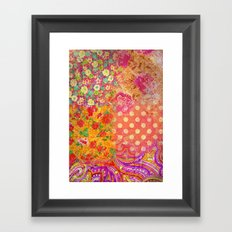 Retro patterns Framed Art Print