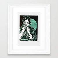 sweater Framed Art Prints featuring Sweater by rayeliann
