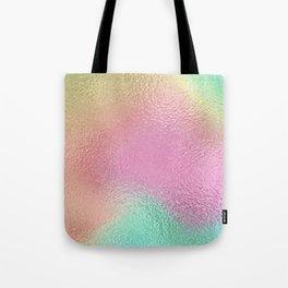 Simply Metallic in Iridescent Rainbow Tote Bag