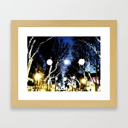 Christmas City Lights Framed Art Print