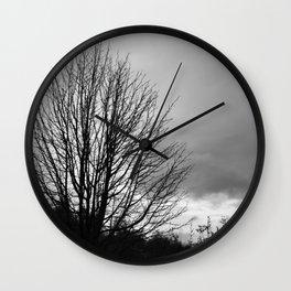 Deadly monochromatic tree Wall Clock