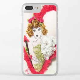 Cupid Girl Clear iPhone Case