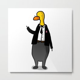 Formal Duck A Metal Print