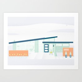 Coastal Retreat Art Print