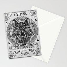 Legend of Zelda Twilight Wolf Link Line Art Stationery Cards