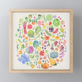 Seasonal Harvests - Neutral Framed Mini Art Print