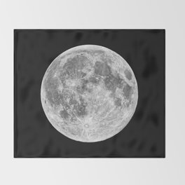 Full Moon Throw Blanket