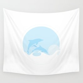 Dolphin Beach Towel Wall Tapestry