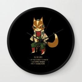 fox to-do-list Wall Clock