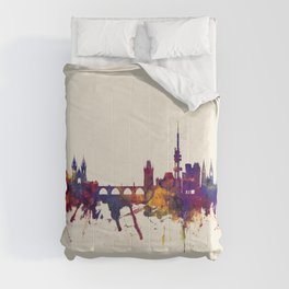 Prague (Praha) Czech Republic Skyline Comforters