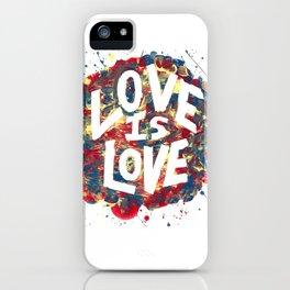 Love Is Love Rainbow Splatter iPhone Case
