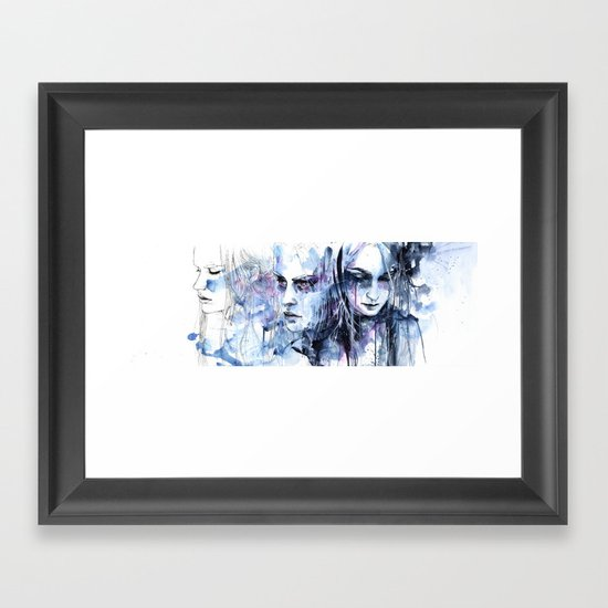 waves - to and fro Framed Art Print