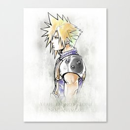 Cloud Strife Artwork Final Fantasy VII Canvas Print