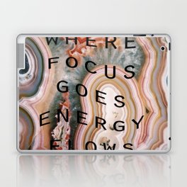where focus goes energy flows Laptop & iPad Skin