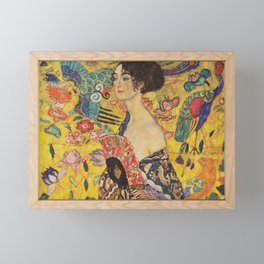 Gustav Klimt - Lady With Fan Framed Mini Art Print