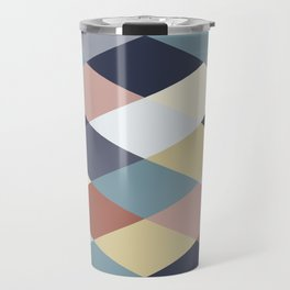 Earth Tones and Blues Geometry IIB Travel Mug