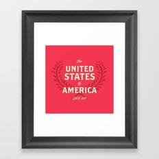 The United States of America Framed Art Print
