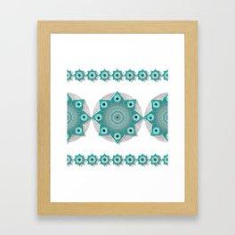 """""""Teal Flower Power ^_^"""" Framed Art Print"""