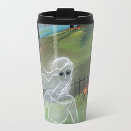 Ghost Friends Halloween Fantasy Art by Molly Harrison Travel Mug