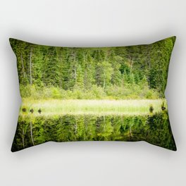 Green Reflections Rectangular Pillow