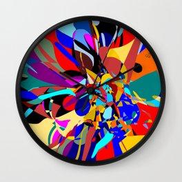 Flora Abstract Wall Clock