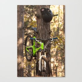 Mountain Biking in the Midwest Canvas Print