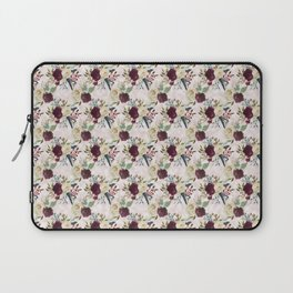 Boho Watercolour Roses Burgundy, Peach and Life Quote Laptop Sleeve
