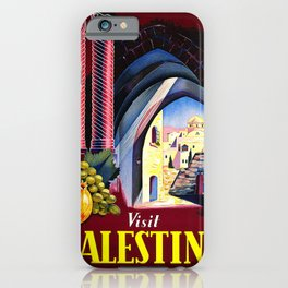 Vintage poster - Palestine iPhone Case