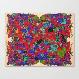 Earths Crowded Feelings Canvas Print