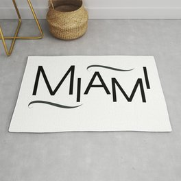 Miami - Font Play - 57 Montgomery Ave Rug