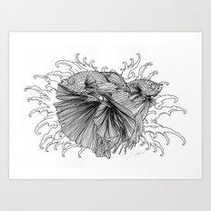 Fighting Fish II Art Print