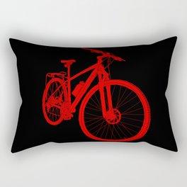 Mountain Bike (Red on Black Variant) Rectangular Pillow