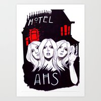 ahs Art Prints featuring AHS by Tante Sui