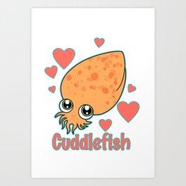 CuddleFish Art Print