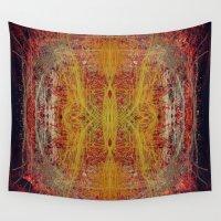 fractal Wall Tapestries featuring Fractal by kira_komandrovskaya