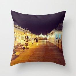 Old victorian Pier Throw Pillow